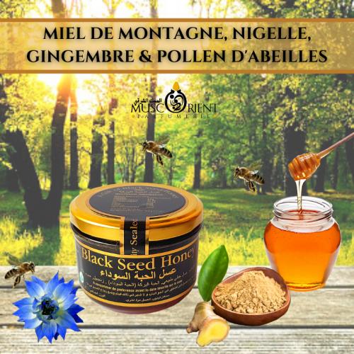 Miel fortifiant à la nigelle et gingembre
