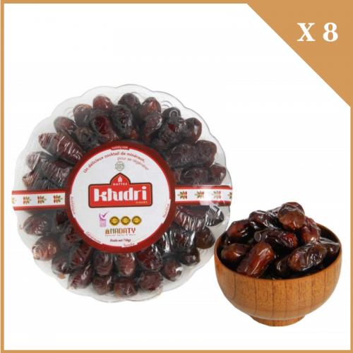 DATTES KHUDRI 8 BOITES 750 g (6 Kg)